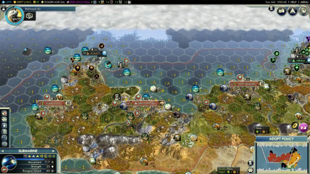 Civ 5: Huge Cities Rule