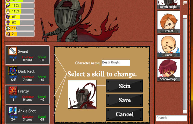 Choosing skills for your characters