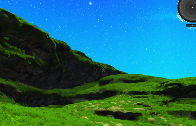 a generated hilly environment