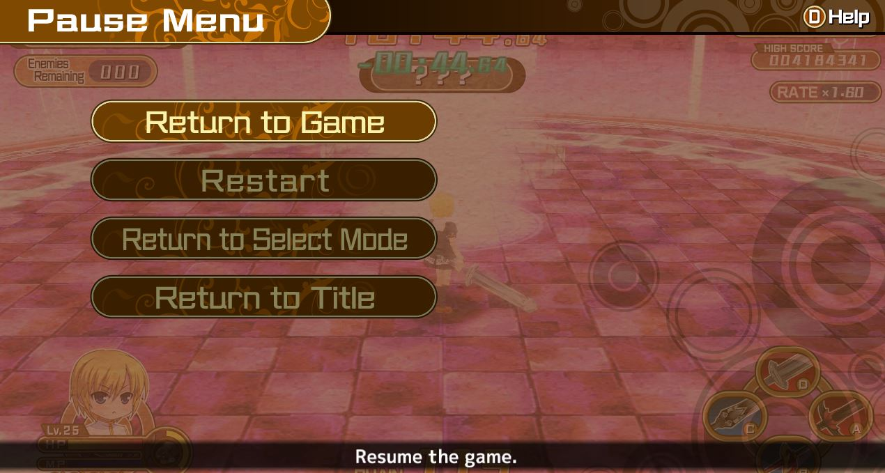 In-Game Pause Menu