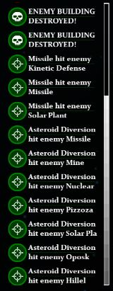 All notifications shown are for last turn.
