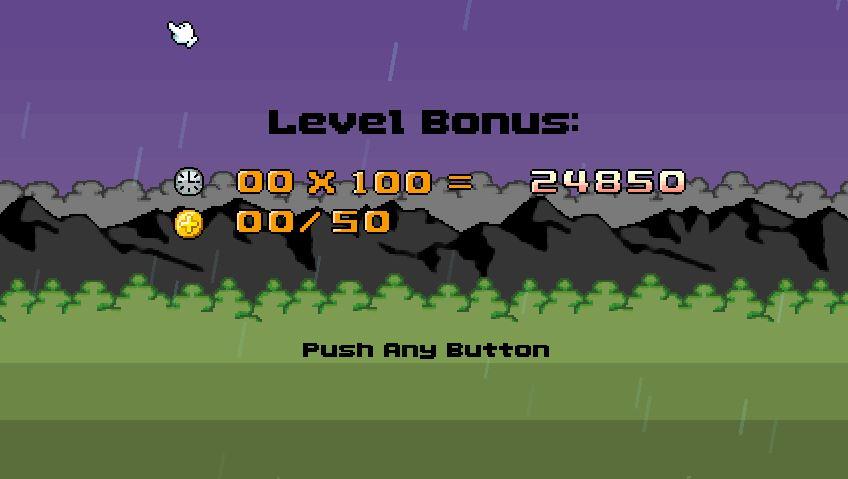 End of level stat bonus.