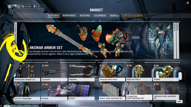 Warframe Review: Market