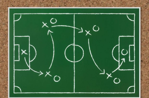 drawing of football plays